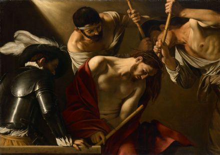Caravaggio, Michelangelo Merisi da: The Crowning with Thorns. Fine Art Print.  (004248)